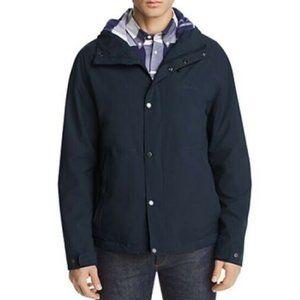 Barbour Noden Hooded Softshell Jacket Mens Navy